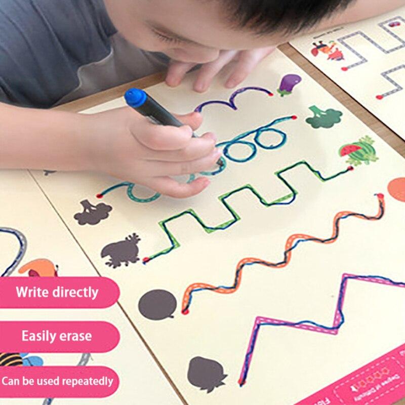 Детские игрушки Монтессори, планшет для рисования, раннее обучение, математическая игра для мальчиков и девочек, Детский обучающий Набор дл...