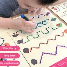 Montessori crianças brinquedos desenho tablet cedo educacional matemática menino menina jogo livro crianças criança aprendizagem forma caneta controle desenhar conjunto