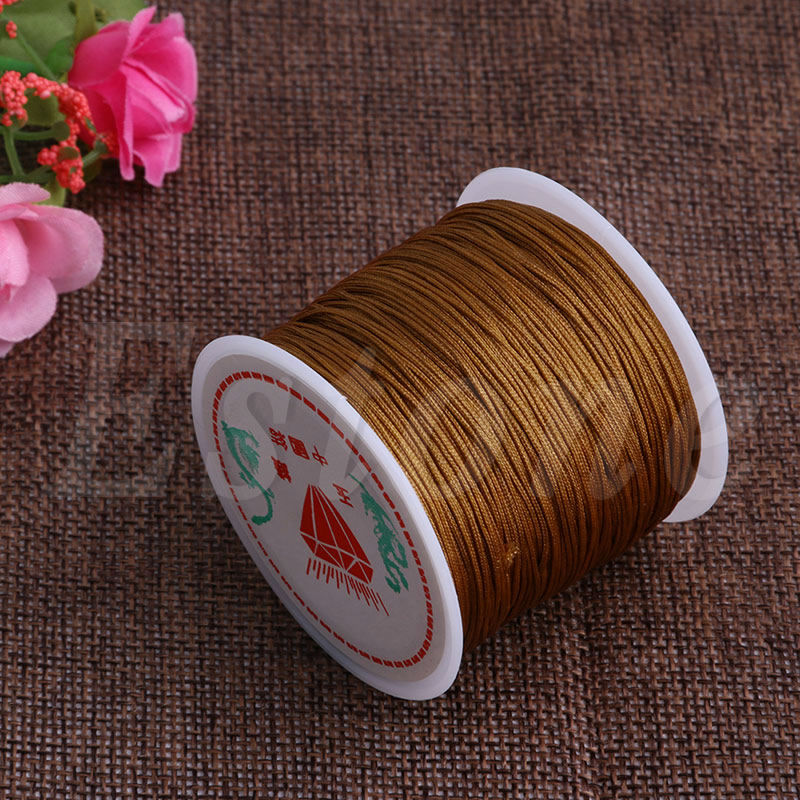 1Roll 45M x 0.8mm Nylon Chinese Knot Macrame Bracelet Braided Cord Thread String