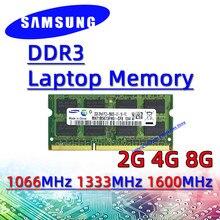 Samsung ddr3 2GB 4GB 8GB 1066MHz 1333MHz 1600MHz RAM Sodimm dizüstü bellek pc3- 8500S 10600S 12800S 16GB 32GB