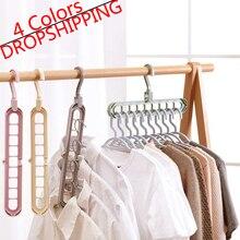 Percha para ropa, organizador para armario, percha para ahorrar espacio, Perchero de ropa multipuerto, Perchero de plástico para bufanda, perchas para ropa TXTB1