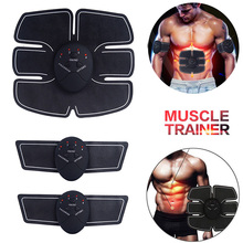Abdominal Muscle Stimulador Electro Electrostimulation EMS ABS Home Fitness Gym Machine Building Body Arm Biceps Massager