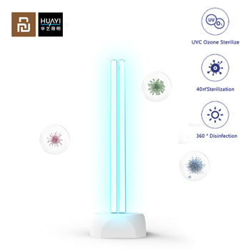 Youpin Huayi 38W Household UV Ozone Sterilization Lamp Ultraviolet Disinfection Germicidal Lamp 360° Disinfection Lamp 40㎡ Area