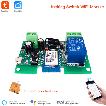 Smart Module USB 7-32V DIY 1 Channel Jog Inching Self-locking WIFI Wireless Smart Home Switch Remote Control with Amazon Alexa 1