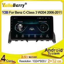 Hd 1024x600 android systerm multimídia gps navegação rádio do carro auto estéreo para mercedes benz c classe 3 w204 s204 2006 - 2011
