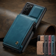 Elegant Business Phone Case For Samsung Galaxy S20 Ultra S9 Plus S10 S8 Card Slot Stand Holder Cover For Note20 Note10 Coque