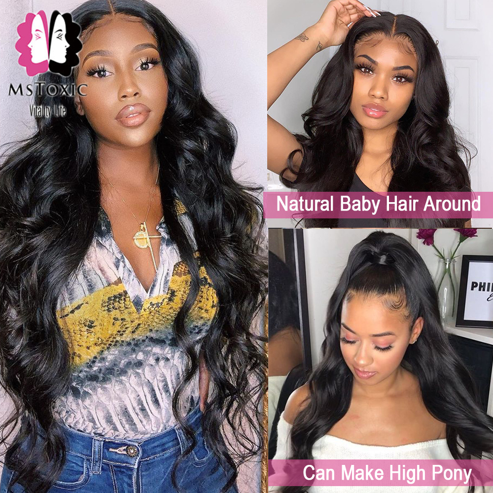 360 Lace Frontal Wig Brazilian Body Wave HD Transparent 13x6 Lace Front Human Hair Wigs for Women 30inch 4