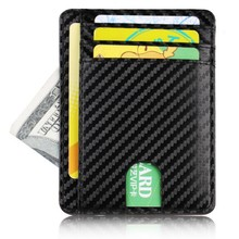 TRASSORY Men Women Small Bank Travel Leather Business Card Case Holder Slim Rfid Lightweight Front Packet Wallet