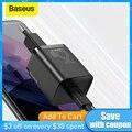 Baseus USB C Ladegerät 25W Unterstützung Typ C PD Schnelle Lade Tragbare Telefon Ladegerät Für Samsung S20 S21 Ultra xiaomi 10 Pro Tablet