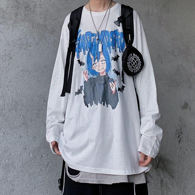 Купить универсальная хлопковая винтажная футболка в стиле хип хоп с картинки цена