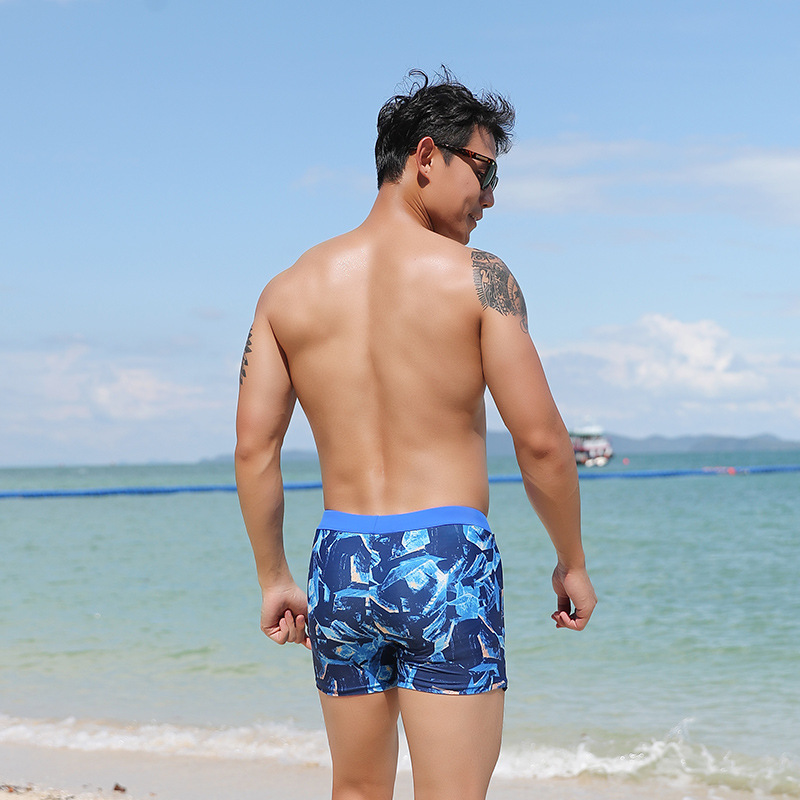 MEN'S Swimming Trunks Short Boxer Non-Resistance Fashion Printed Swimming Trunks 9007 New Products