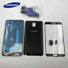 Note3 เต็มรูปแบบฝาครอบกรณีสำหรับSamsung Galaxyหมายเหตุ 3 N9005 N9006 N900 กรอบด้านหน้า + LCDด้านหน้าแก้ว + แบตเตอรี่