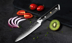 "Image 5 - XITUO دمشق سكاكين المطبخ 5 ""بوصة 67 طبقات اليابانية دمشق الصلب VG 10 سكين الطاهي الساطور تقشير تقشير أداة الطبخ هدية"