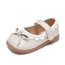 Весенние кожаные туфли для девочек, новые детские туфли на плоской подошве, мягкие классические туфли принцессы для вечерние ринки, свадьбы...