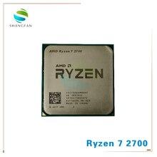 AMD Ryzen 7 2700 R7 2700 3.2 GHz sekiz çekirdekli Sinteen dişli 16M 65W CPU İşlemci YD2700BBM88AF soket AM4