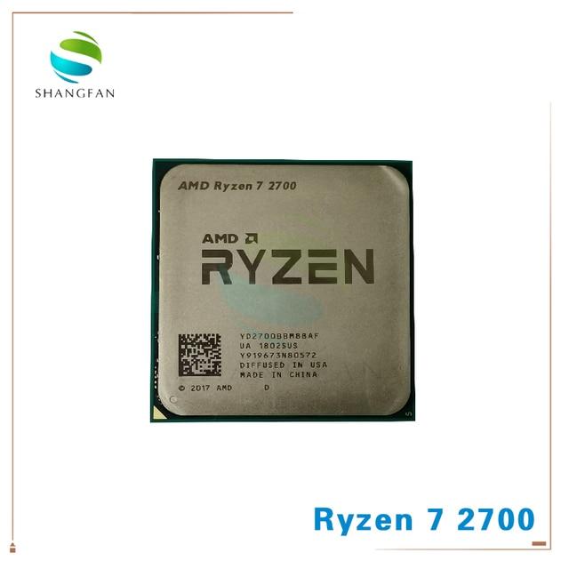 Процессор AMD Ryzen 7 2700 R7 YD2700BBM88AF 8 ядерный, 16 поточный процессор, 2700 ГГц, 65 Вт, разъем AM4, 16 Мб