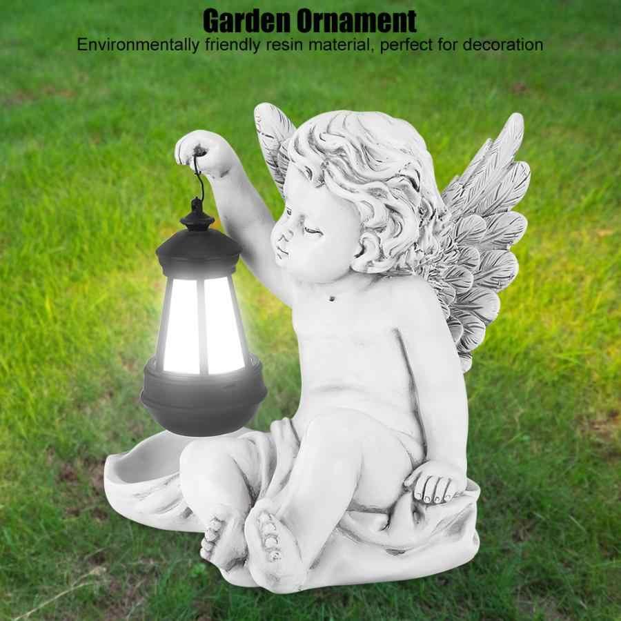 Path Simulation Resin Angel Statue Solar Powered Decorative Light Landscape Lawn Ornament Decor Garden Lights Garden Ornament Garden Suncatchers Aliexpress