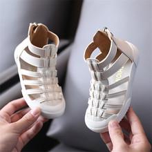 2021 New Summer Children #8217 s Sandals Genuine Leather High-help Hollow Out Wrap Toe Fashion Kids Girls Sandals 21-30 cheap GT-CECD Rubber 13-24m 25-36m 4-6y 14 5cm 15cm 16cm 17cm 17 5cm 18cm 18 5cm 19cm 19 5cm 20cm CN(Origin) Gladiator Quick Dry