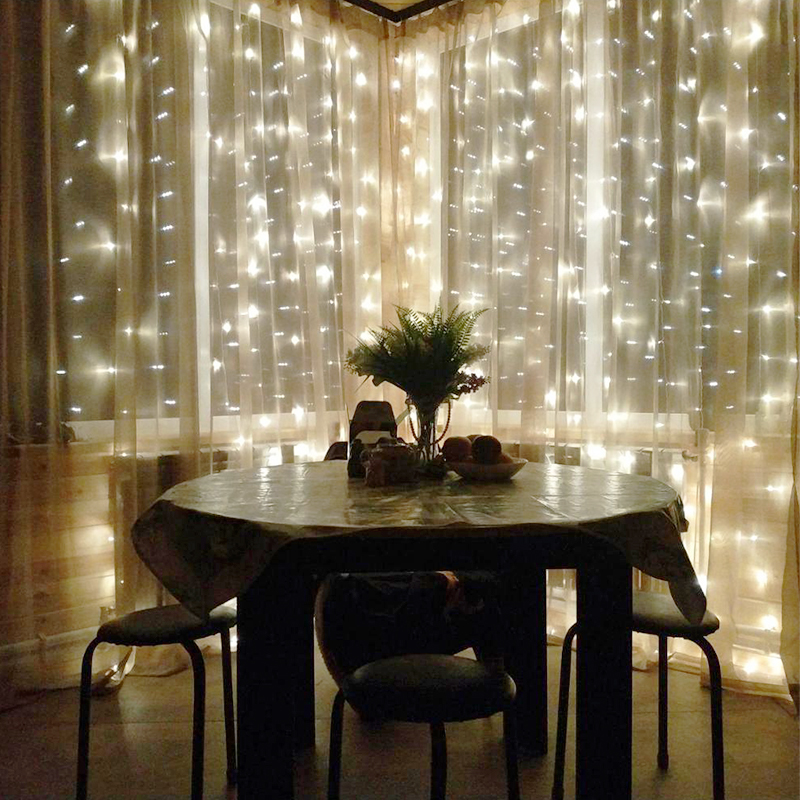 Christmas LED Icicle String Lights Home Outdoor Holiday Decorative Wedding LED Fairy Curtain Garlands Party Lights New Year