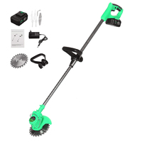 Electric Lawn Mower 6000mah Li ion Cordless Grass Trimmer Rechargeable With 1xBattery Mower Household Cutter Garden Tools Kits