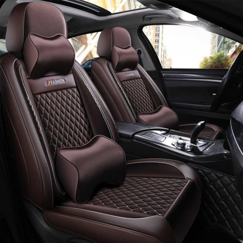 מלא כיסוי עור מפוצל רכב מושב כיסוי פשתן סיבי מושבים אוטומטי מכסה לניסן primera p12 הקאשקאי j10 j11 rogue סאני sylphy
