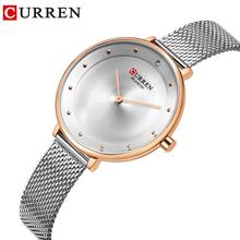 CURREN Silver Women Watches Rhinestone Quartz Ladies Bangle Bracelet Watch Waterproof Stainless Steel Clock Relojes Mujer best seller free shipping women bangle watch and bracelet set with silver rhinestone relogio masculino jun2 xj