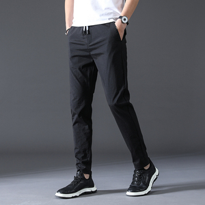 Image 2 - summer high quality Men Pants Brand Clothing Classic Casual Men Trousers Straight Gray Black Khaki thin Breathable Pants male