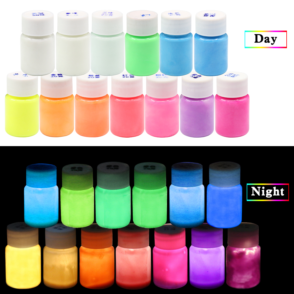 Luminous Paint Glow In The Dark Phosphor Paint Shining For Party Nail Decoration Art Supplies Fluorescent Acrylic Paint
