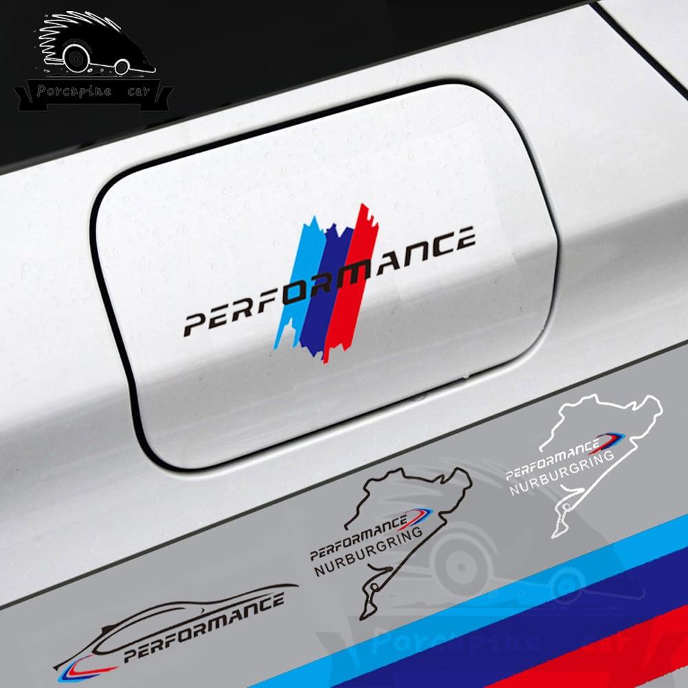Car Fuel Tank Cap Sticker Racing Road Nurburgring Performance Decal For BMW e90 e46 e60 e39 f30 f34 f10 f15 f26 X1 X3 X4 X5 X6