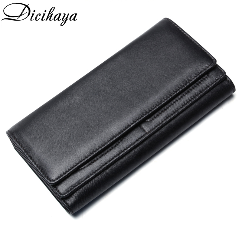 DICIHAYA 2020 New Men Wallet Large Capacity Money Bag Solid Color Men's Clutch Bags Multifunction Purse Men Long Wallets Bag