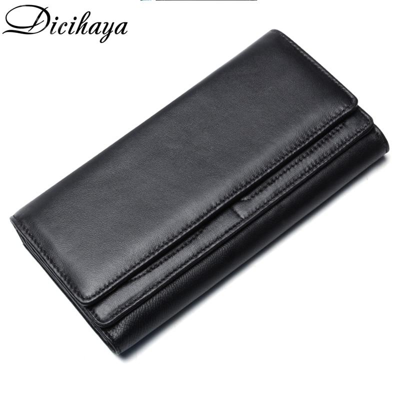 DICIHAYA 2020 New Men Wallet Large Capacity Money Bag Solid Color Men's Clutch Bags Multifunction Purse Men Long Wallets Bag