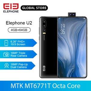 ELEPHONE U2 MT6771T Octa Core 4GB 64GB Mobile Phone 16MP Pop-Up Dual Cam 6.26