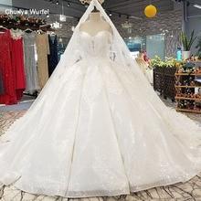 LS14440 plus größe elfenbein hochzeit kleid mit perlen schatz großhandel schönheit schleier vestido de noiva simples bürger curto