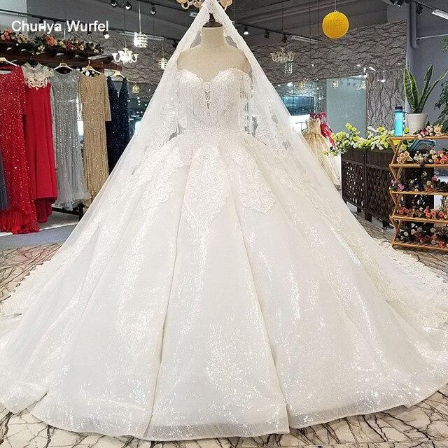 Ls14440 plus size marfim vestido de casamento com contas querida atacado beleza véu vestido de noiva simples curvo civil