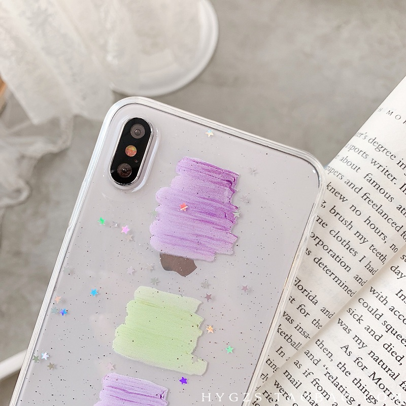 Cute rainbow clouds mobile phone Case for iPhone XR Xs Max 8 7 6 6S Soft TPU Clear Phone cover For iPhone 6 6S 7 8 plus XS X in Fitted Cases from Cellphones Telecommunications