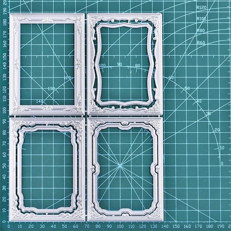 Eastshape Frame Dies Rectangle Metal Cutting Dies For DIY Scrapbooking Craft Card Embossing Die Cut New Template