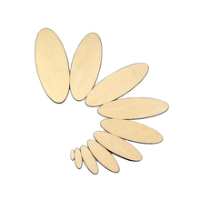 10-300mm Blank unfinished wooden oval crafts supplies laser cut rustic wood wedding rings ornaments  171179