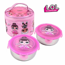 LOL Surprise Dolls Toys Genuine Children's Tableware Portable Stainless Steel Bento Box Korean Chopsticks Set Outdoor