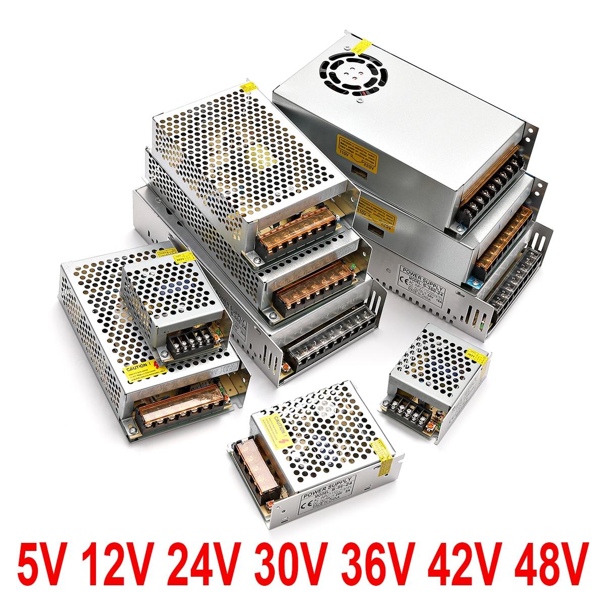 Трансформаторы освещения 110 В 220 В в постоянный ток 5 в 12 В 24 в 48 в 1A 2A 3A 5A 10A 20A 30A 40A CCTV Блок питания светодиодной ленты адаптер