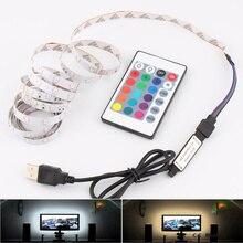 5V RGB LED лента USB SMD 2835 ПК компьютер телевизор подсветка 50CM 1M 2M 3M 4M 5M 5V USB LED Strip RGB Lights Lamp Tape Лента DC 5V