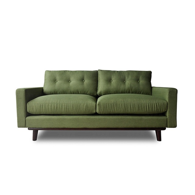 U-BEST Living Room 3 Seat Cinema Velvet Fabric Sofa Set 5