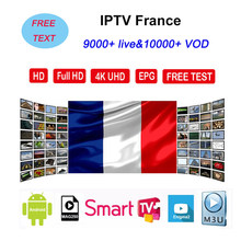 France iptv 9000 HD live IPTV Susbcription M3U europa frankrijk spaans italia portugal iptv m3u smart Android tv box free test(China)