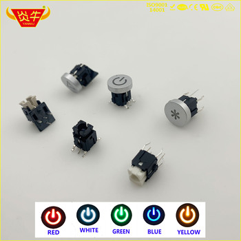 50Pcs 6*6 6x6 SMD 6Pin SWITCH TACT LED PUSH BUTTON MICRO SWITCH Lockless Self-recovery RESET white red blue green yellow