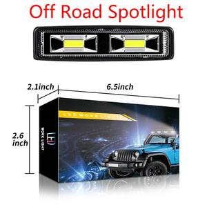 Led Light Bar Offroad DRL LED Work Light Flood Beam Spotlight 12V Daytime Running Light For Off Road 4WD SUV ATV Car Light