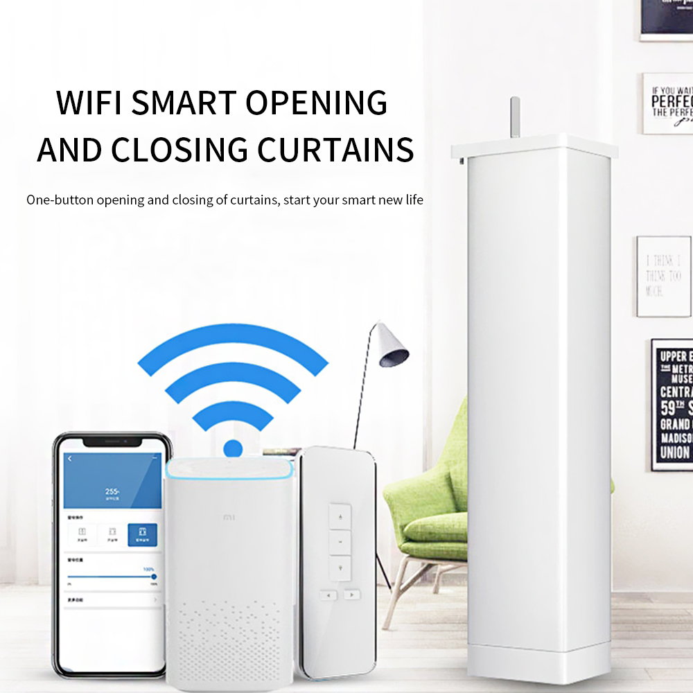 Automatic Motorized Smart Curtains Wifi Smart Home For Xiaomi Tuya Amazon Google Home Wireless Remote Control Curtain Motor