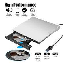 Movimentação de cd compatível do usb manejar do queimador de cd da rom do portátil para o portátil movimentação de cd do usb 3.0