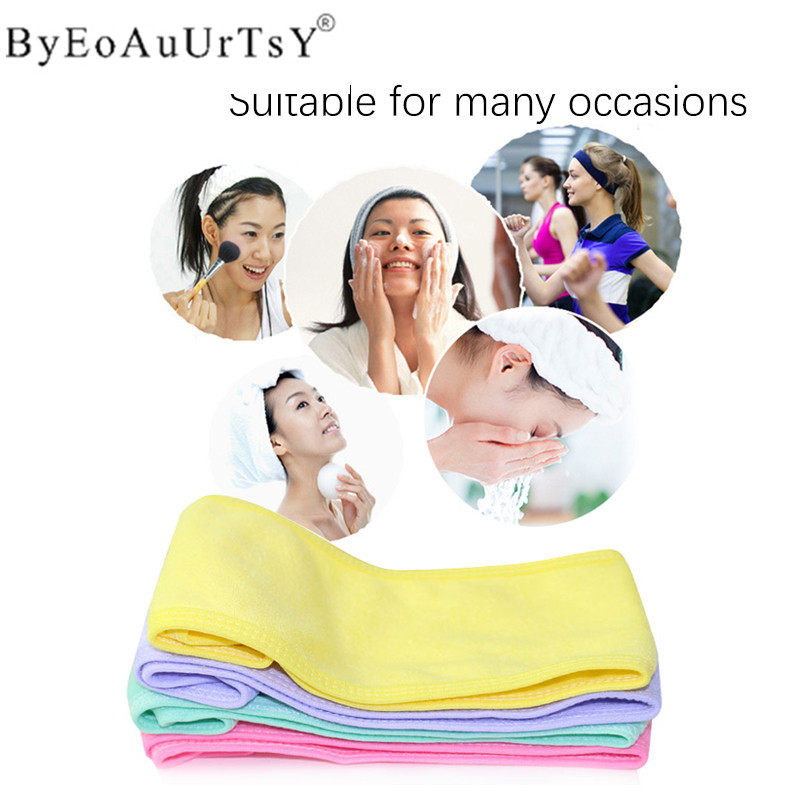 1 pcs Wash Face Makeup SPA Women Sweat Elastic Soft Headbands Fashion Bath Sweat Makeup wicking beauty salon special tools tatt 4