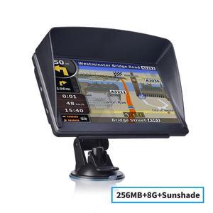 katarina 7 Inch Gps Navigator Portable Navigator 8GB+256MB+Sunshade Gps Navi Navigation Device Maps Truck Car Auto Touch Screen