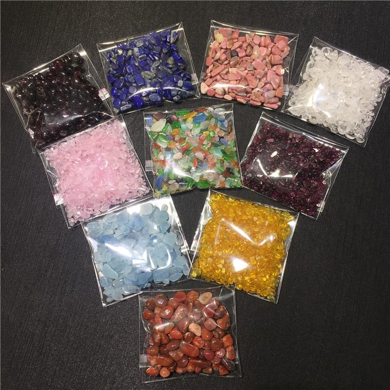 Смешанные отполированные натуральные камни, энергетические кристаллы и драгоценные камни, измельчение дробленых камней для изготовления ...