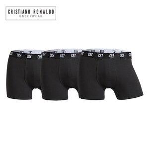 Image 1 - 2020 popüler marka erkek baksır şort iç çamaşırı Cristiano Ronaldo CR7 kaliteli pamuk seksi külot çekin erkek külot